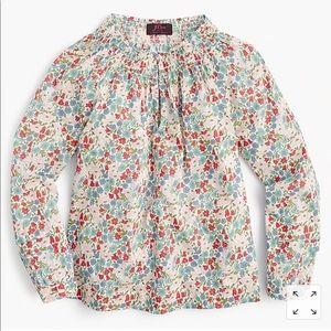 J Crew Liberty Poppy print blouse